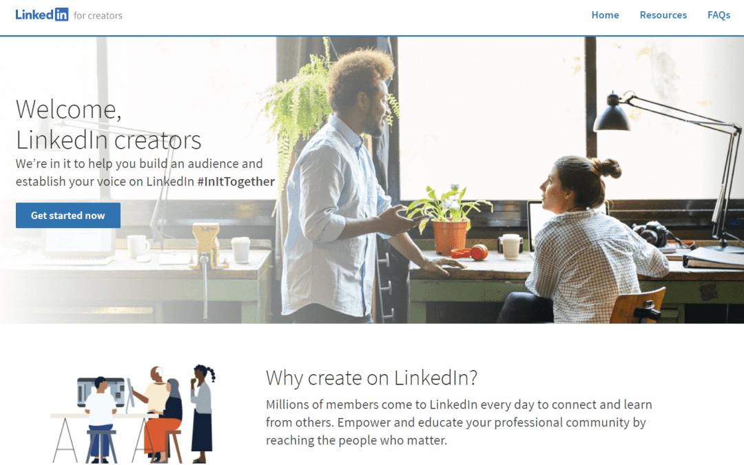 New LinkedIn Program for Online Content Creators